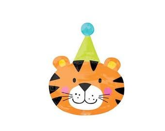 Party Tiger Balloon/ Tiger Balloon/ Jungle Party Balloons/ Safari Balloons/ Jungle Birthday Balloons