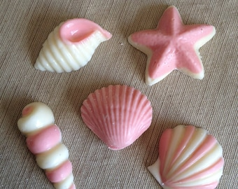 3d Seashell Candy Favors - one Dozen Individually Wrapped