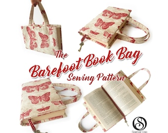 Book Bag tutorial and PDF pattern. Book cover. Make for any size of book. Instant download #