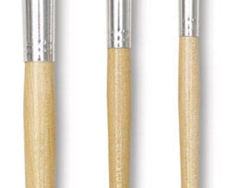 """Pack of 3 Stencil Brushes, 1"""" , 1/2"""" and 1/14"""" -Package includes One of Each Size"""