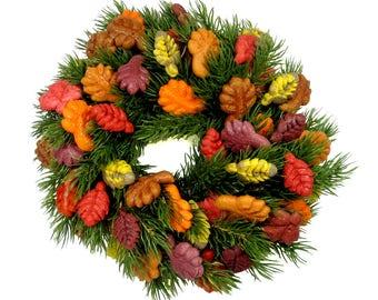 10 inch Autumn / Thanksgiving Wreath
