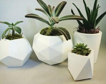 Concrete Planter | Succulent Planter | Planter | Geometric Planter | Plant Pot | White Planter | Handmade Planter | Succulent | Concrete