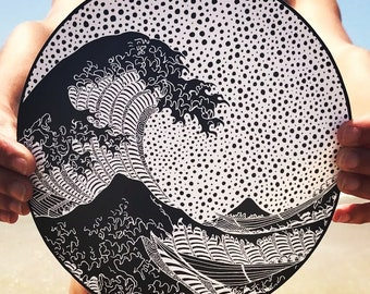 The Great Wave of Kanagawa, Vinyl van, surf stickers, Big wave, Van stickers, Wave sticker, Wave decal, wave stickers, waves vinyl, surfer