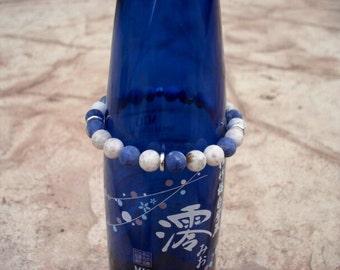 Silver Bracelet, Silver Beaded Bracelet, Silver Bracelet Men, Beaded Bracelet, Stretch Bracelet, Bracelet for Men, Bracelet for Women