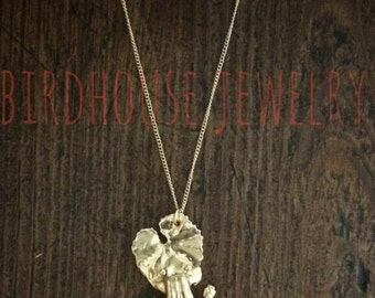Vogelhaus Schmuck - Frosch auf Lilypad Halskette