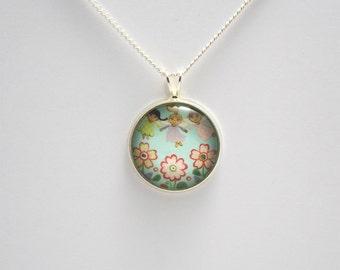 Garden fairy necklace Garden fairy jewelry Garden fairy pendant Flower fairy necklace Garden fairies Fairy tale necklace Fairy tale jewelry