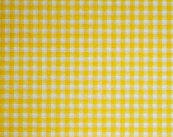 Yellow Gingham Check Tissue Paper # 341 ... 10 Large Sheets