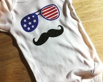 America Mustache Baby