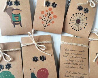 Child Advent Calender - Acts of Kindness Advent Calendar - Good Deed Advent Calendar - Elf Accessory - Kindness Calendar - elf on the shelf