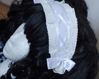 Headpiece Sweet Gothic Lolita schwarz weiß Schleifen