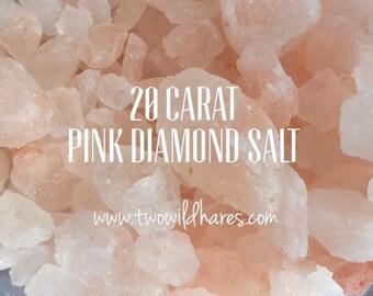 PINK Himalayan DIAMOND Rock Sea Salt, XXL Coarse Rock Grain, 3 or 6 lbs, Remineralizing, Natural, Two Wild Hares