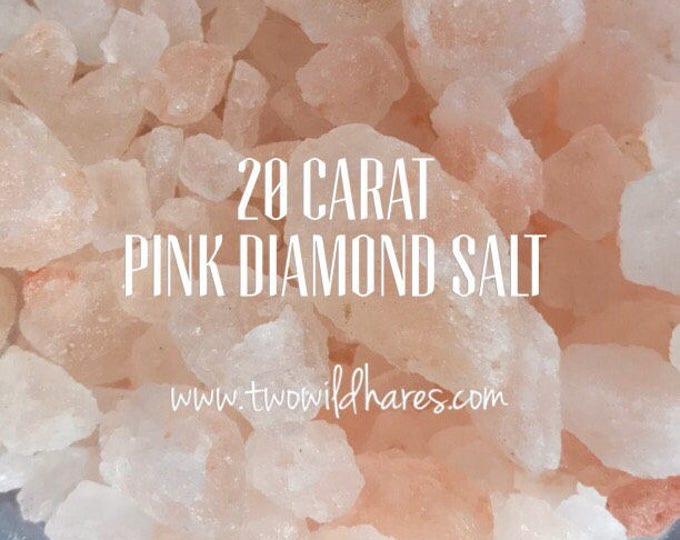 20 Carat PINK DIAMOND Rock Sea Salt, XXL Coarse Rock Grain, 3 or 6 lbs, Remineralizing, Natural, Two Wild Hares