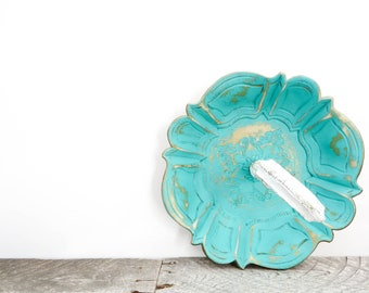 Turquoise Decorative Bowl - Vintage Italian - Turquoise Home Decor