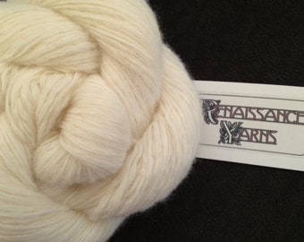 Recycled Lambswool/Angora Rabbit/Nylon Yarn, Reclaimed 3-ply Sport Weight Yarn, 1,446 yds available @ 0.03/yd