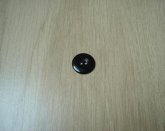 hollow round shape black button
