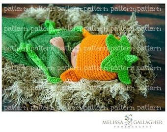 PATTERN Pumpkin-Top Earflap Hat Crochet PATTERN