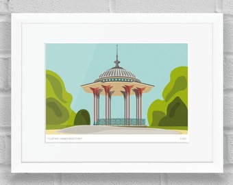 Clapham Common Bandstand, London - Limited Edition Giclée Art Print / Poster