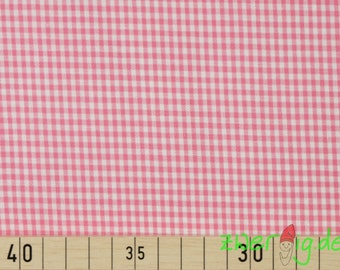 Cotton plaid fabric pink-and white 2mm small Vichy Karo