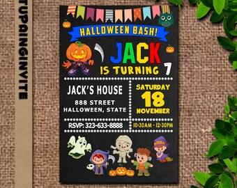 Kids Halloween Birthday Party Invitations/Kids Halloween Party Invitations/Kids Halloween Party Invites/Halloween Birthday Party Invitation