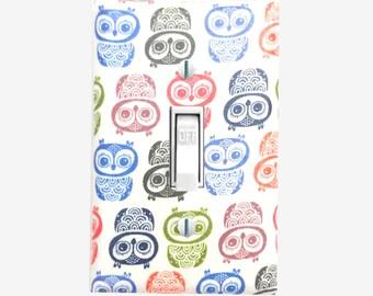 Owl light switch cover Boho Owls home decor