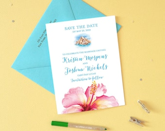 Save the Dates Cabo San Lucas, Beach Wedding Save the Date Cards, Destination Wedding Save the Dates, Cabo Wedding