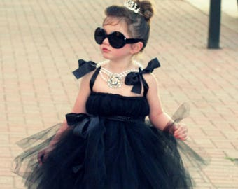 The Original Breakfast At Tiffanys Inspired Tutu Dress Audrey Hepburn Costume Breakfast at Tiffany's Tutu Dress by Atutudes for girl toddler
