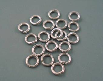 Stainless Steel Jump Ring, 6MM 18G Stainless Steel Jump Ring, 20 Pieces 6MM Closed But Not Soldered Heavy Gauge