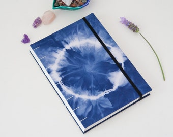 Writing Journal - 144 Page Unlined Journal Notebook with Circle Print - Book Lover Gift