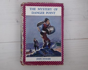 """Charming """"The Mystery of danger Point"""" vintage children's book by John Finbarr.  Oxford hard back edition in original dust jacket."""