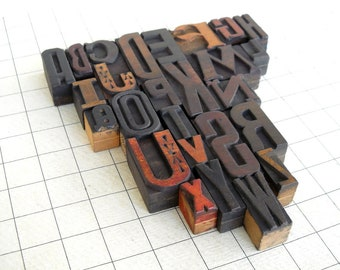 A to Z - Vintage Letterpress Wood Type Collection -VG106