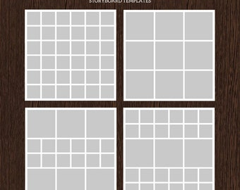 20x20 Photo Storyboard Templates - Photo Collage Template - PSD Template - Resize to 10x10 - For Photographers - Instant Download - S214