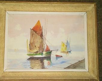 M catelein seascape painting.
