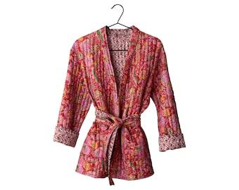 Quilted Silk kimono jacket