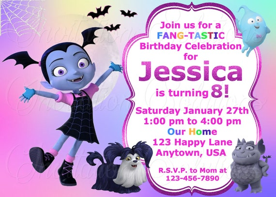 Vampirina Birthday Party Invitation/ Disney Themed Vampirina
