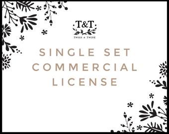 Commercial License - For One Clip Art Set