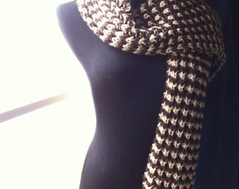 SALE! Houndstooth Scarf (Brown)