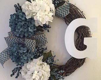 Custom Blue Wreath