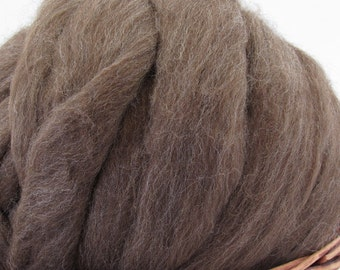 Shetland Moorit Wool Top Roving - Undyed Spinning & Felting Fiber / 1oz