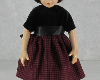 10 inch Doll, Willow's Way Red and Black Dress