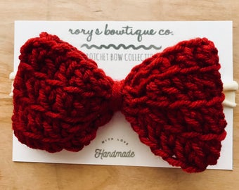 Wine Red Giant Hair bow