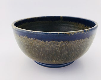 Royal Blue and Gold Mixing Bowl