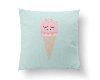Ice Cream Pillow, Kids Pillow, Home Decor, Cushion Cover, Throw Pillow, Bedroom Decor, Bed Pillow, Decorative Pillow, Nursery Decor