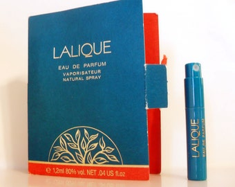 Vintage 1990s Lalique de Lalique 0.04 oz Eau de Toilette Sample Vial on Card PERFUME
