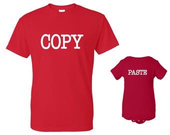 COPY, PASTE T-shirt and Onesie Set