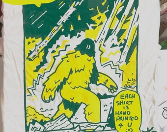 Patterson-Gimlin Gal: Bigfoot t-shirt (screenprinted tee)