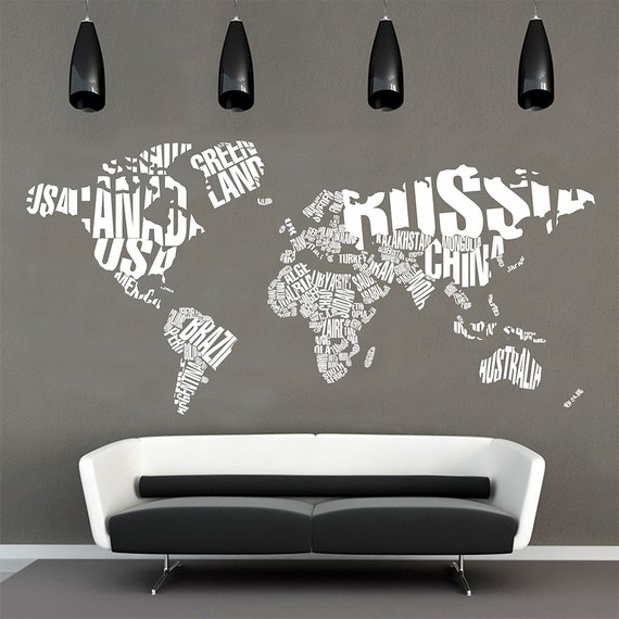 Map of the world wall decalworld map typographywall map map of the world wall decalworld map typographywall map decal word world map wall decalletters world map wall decallarge wall map 014 gumiabroncs Images