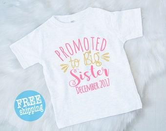 Big Sister announcement shirt, Big Sister, Pregnancy announcement shirt, Promoted to big sister, Soon to be big sister,