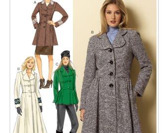 Butterick B6143 Misses' Round Collar Jackets and Coats