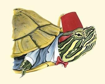 Painted Turtle print 8x10