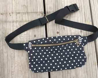 Dots + Gingham Waist Bag Fanny Pack